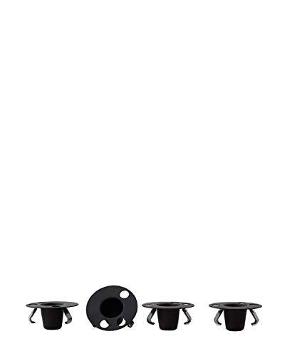 Design Letters Candle Holder Set for Espresso Cup Small Black