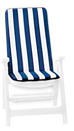 markotex cojín desenfundable para silla y tumbona universal suave a rayas plegable...