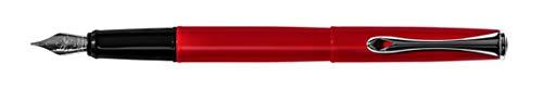 Diplomat D40601023 Esteem Red Lacquer Füllfederhalter Fine Nib Alle Metallgehäuse rot