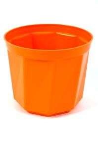 Plastkon Décoration Pot Rose Diamètre 15 cm, Orange