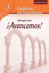 Price comparison product image Avancemos!: Cuaderno para hispanohablantes Workbook Teacher's Edition Level 1 (Spanish Edition)