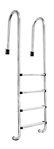 V2Aox acero inoxidable escalera de piscina pool piscina escalera 2 - 5 escalones, Steps:4-step (183 x 50 cm)