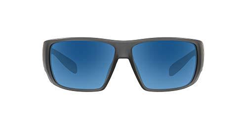 Native Eyewear unisex adult Sightcaster Sunglasses, Matte Smoke Crystal/Blue Reflex, 64 mm US