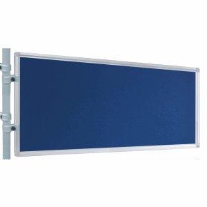 Franken Präsentations-Stellwand 60x120 cm blau/Filz