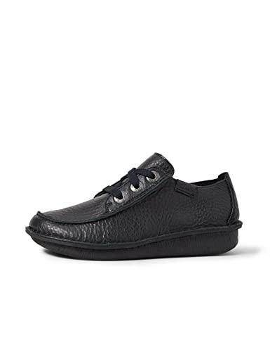 Clarks Women's Brogue Lace-Up Shoes, Black, 10.5