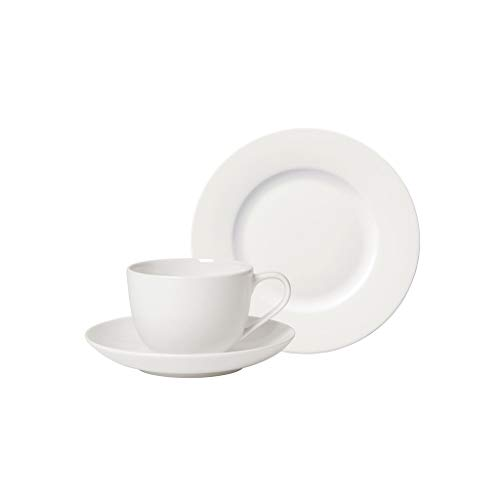 Villeroy und Boch - For Me Kaffee-Set, 18 tlg., das Allround-Talent, Premium Porzellan, spülmaschinen-, mikrowellengeeignet, weiß