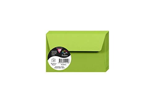 Clairefontaine envelop pollen, 9 x 14 cm, pakket Mint groen