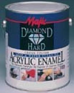 Majic Paints 8-1581-1 Diamond Hard Acrylic Enamel High Gloss Paint, 1-Gallon (128 oz), Tint Base #1 White