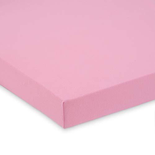 FabiMax Jersey Spannbettlaken für 6-eck Laufgitter, rosa