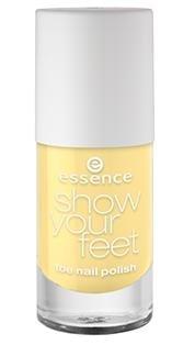 Essence Show Your Feet - Nagellack - 17 Lemon Sorbet 8ml Farbe: Pastell Gelb