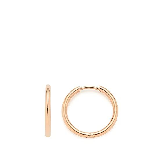 Alida Beauty's - Pendientes de aro de oro rosa