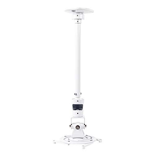 Duronic PB08XL Supporto universale per proiettore 10kg estendibile da 604mm a 843mm montaggio parete/muro/soffitto staffa videoproiettore per casa ufficio sale riunioni