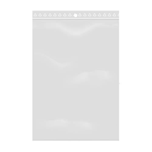 Extiff Lotto di 100 Sacchetti Trasparenti con Chiusura a Zip - Plastica Alimentare (12 x 18 cm)