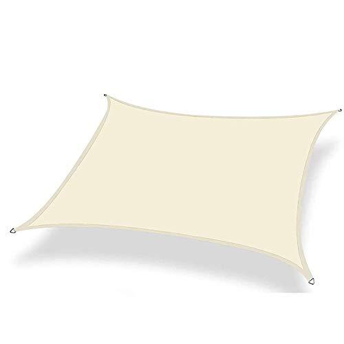 JQDZX Rectangular Toldo Vela de Sombra, 2 x 3 Metros Parasol poliéster protección Rayos UV, Toldo Resistente e Lmpermeable, para Jardín Patio Terraza Balcón Exteriores (5X6M,B)