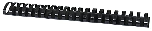 Öppet sortiment 20243915-05 plastbindningar 50 stycken DIN A4 38 mm (350 sidor) bindande kammar plastbindning | plast | färg: svart