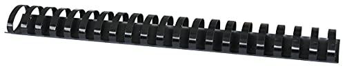 Office Products 20243915-05 - Canutillos para encuadernación (plástico, 50 unidades, DIN A4, 38 mm, 350 páginas), color negro