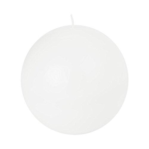 Kugelkerzen weiß lackiert glänzend 120 mm Durchmesser Kugel Kerze