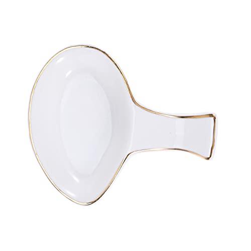 Cabilock 2Pcs Bacchette di Ceramica Poggia Porcellana Bacchette Cucchiaio Forcella Resto del Supporto Salsa Piatto Piatto Piatto di Salsa di Immersione Ciotole per La Salsa di Soia Ketchup