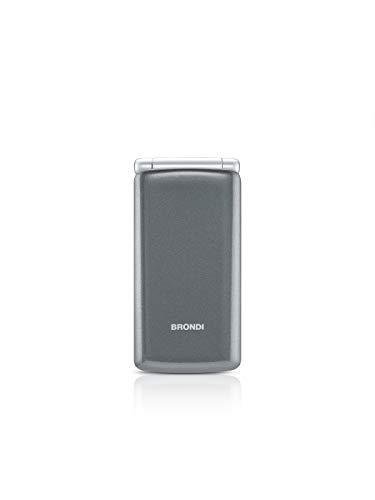 Brondi Amico Sincero Telefono Cellulare per Anziani GSM DUAL SIM con Tasti Grandi, Funzione SOS, Controllo Remoto, Volume Alto, Grigio