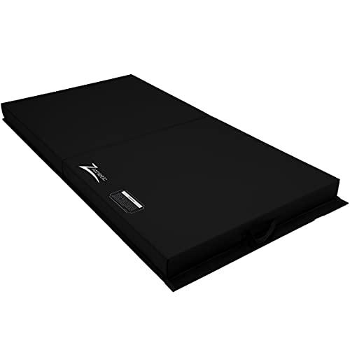 Z Athletic Gymnastics 6' x 3' x 4' Open Cell Landing Mat for Gymnastics, Tumbling, Martial Arts (Black)