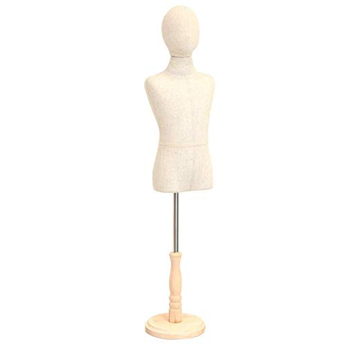 Schneiderpuppe Weiblich verstellbar Kinder Schneider Dummy Kinderfiguren Schneider Büste Modeschöpfern Anzeige Höhenverstellbar schneiderbüste ständer (Color : B, Size : Medium)