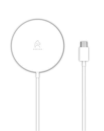 Epeios ワイヤレス充電器 磁力吸着 PD20W 対応 iPhone 12 / 12 Pro、12 mini、Airpods Pro、SAMSUNG Galaxy LGなど各機種対応 最大15W出力 超薄 急速充電