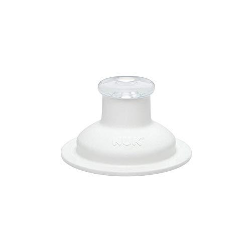 NUK 10255252 Push-Pull-Tülle Silikon für Sports Cup und Junior Cup, auslaufsicher, langlebig, hygienisch, Spülmaschinen geeignet, weiß, 1 Stück