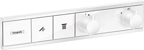 hansgrohe Unterputz Thermostat RainSelect (für 2 Funktionen) mattweiß