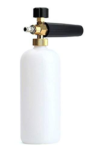 Tebery Adjustable Snow Foam Lance Foam Pressure Washer Jet Wash Car Wash Gun 1/4' Quick Release