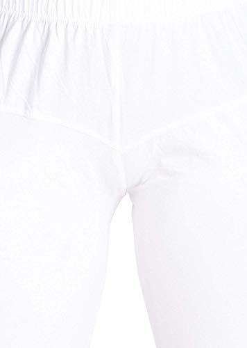 LYRA Women's White Churidar Leggings