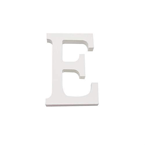 Arte infinita - Letras y números de madera alfabeto para decoración 15 cm (E)