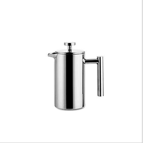 Merece la pena tener materiales y mano de obra de Prensa francesa Cafetera Cafetera Acero inoxidable Café Potcolator Pot, Pared doble y gran capacidad Recipientes de café (Size : 0.8L)