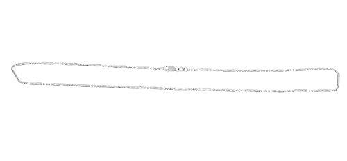 Ketting 585 witgoud halsketting 14 karaat karabijnhaak collier staafjes kogelketting 42 cm hobra-goud