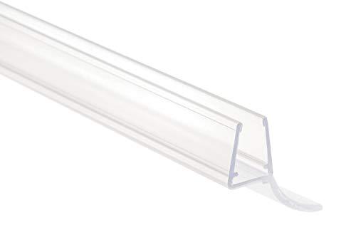 Sanitop-Wingenroth Duschtürdichtung 6-8 mm, Universal Abdichtung für Dusche, Lippendichtung 6-8 mm für Glas- oder Acryl-Duschtür, transparent, 100 cm, Schwallschutz wasserabweisend, 25679 7