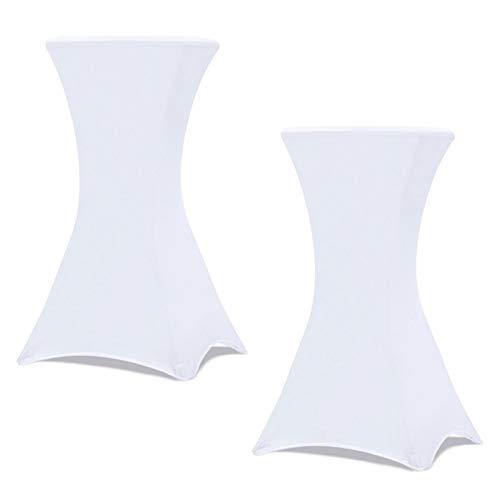 IDMarket - Housse Blanche x2 pour Table Haute Pliante 105 cm