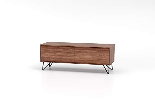 Amazon Marke - Rivet TV-Konsole, 120 x 40 x 45cm, Nussbaum