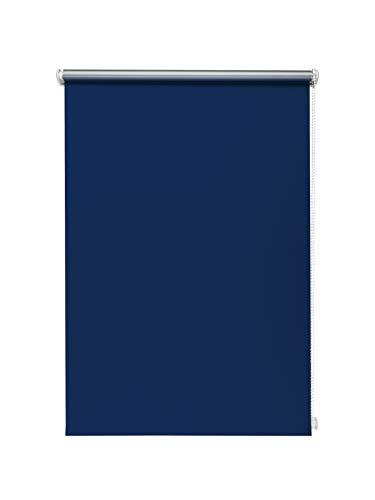 Beyond Drape Thermo-Rollo ohne Bohren Verschiedene Größen und Farben Verdunkelungsrollo Seitenzugrollo Klemmrollo Blackout Silberbeschichtung Blau 90x150 cm
