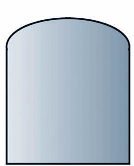 Glasbodenplatte Segmentbogen mit Facette