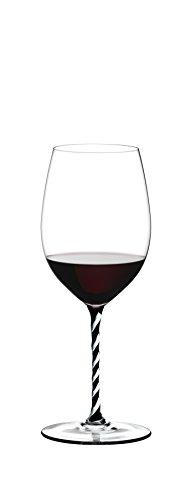 Riedel - Fatto A Mano,'Cabernet/Merlot Schwarz/Weiß' Rotweinglas (4900/0BWT)