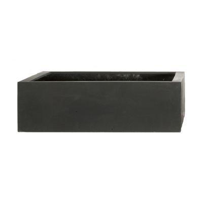 AMEI Stonefiber Pot quadratisch L schwarz (42 x 42 cm, h 13 cm)