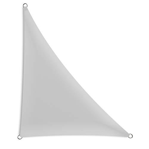 Schramm® Sonnensegel dreieckig in verschiedenen Größen und Farben Sonnenschutz Sichtschutz Windschutz, Farbe:grau, Größe:3 m x 3 m x 4.25 m