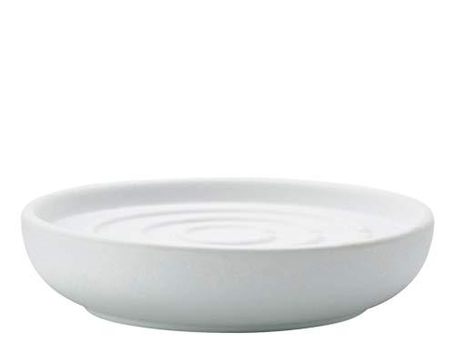 Zone Denmark Nova Seifenschale/Seifenhalter/Seifenablage, Porzellan mit Soft Touch-Beschichtung, weiß