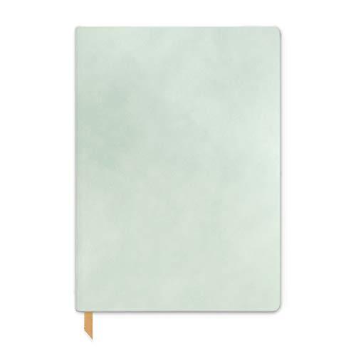 DesignWorks Ink Diário de capa flexível de camurça vegana, 14,6 cm x 20,3 cm, menta