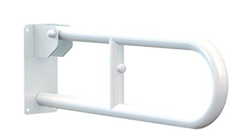 Aquasanit A10690AC008- Maniglione serie Care ribaltabile in acciaio laccato, Bianco