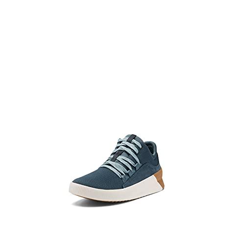 Sorel Women's Out 'N About III Plus Lace Sneaker — Uniform Blue, Cinder Grey — Waterproof Suede Sneakers — Size 10.5