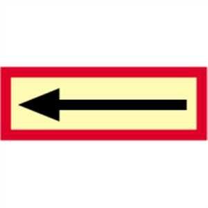 Richtingspijl HIGHLIGHT PVC 10,5 x 29,7 cm Dit bord mag alleen worden gebruikt in combinatie met een ander brandbeveiligingsteken! Lichtdichtheid: HIGHLIGHT 48 mcd/m2