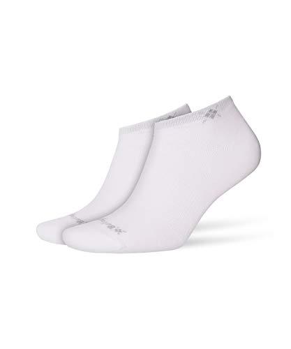 BURLINGTON Damen Sneakersocken Everyday 2-Pack - Baumwollmischung, 2 Paar, Weiß (White 2000), Größe: 36-41