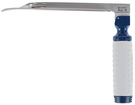 Curaview Led Laryngoscope Blade & Handle, Disposable, Miller 3 1/Ea