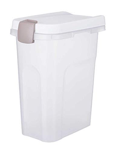 Luftdicht verschließbare Behälter 25 L für Trockenfutter und Kauartikel halten das Futter frisch und schützen vor Schädlingen und Feuchtigkeit
