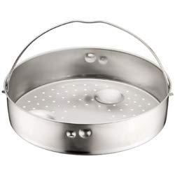 WMF Schnellkochtopf-Zubehör, Dampfer-Einsatz 4 cm, gelocht, für Schnellkochtöpfe 2,5l, Cromargan Edelstahl, spülmaschinengeeignet
